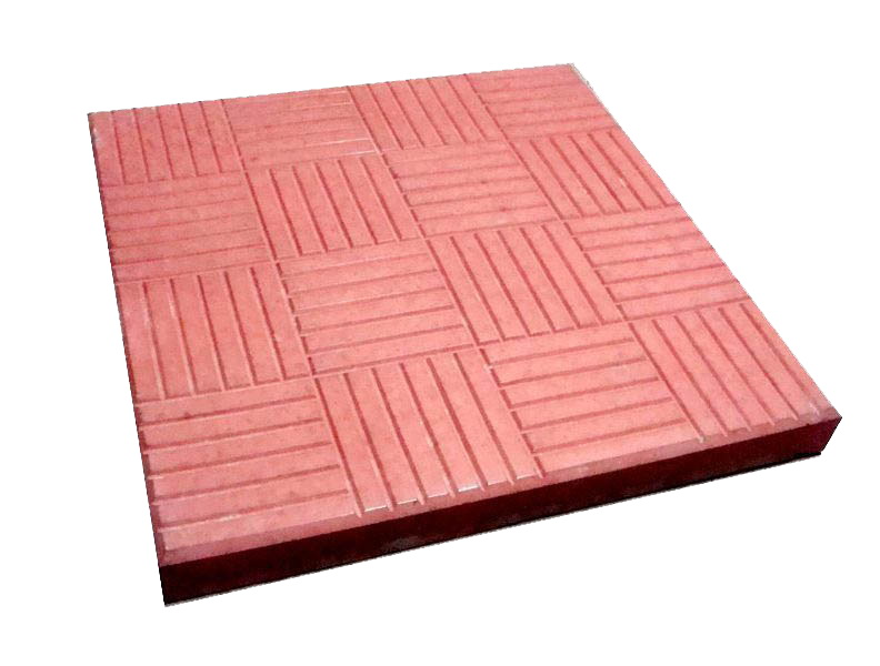 Плитка 300*300*30 (красная) ПАРКЕТ 11шт/м2 - фото