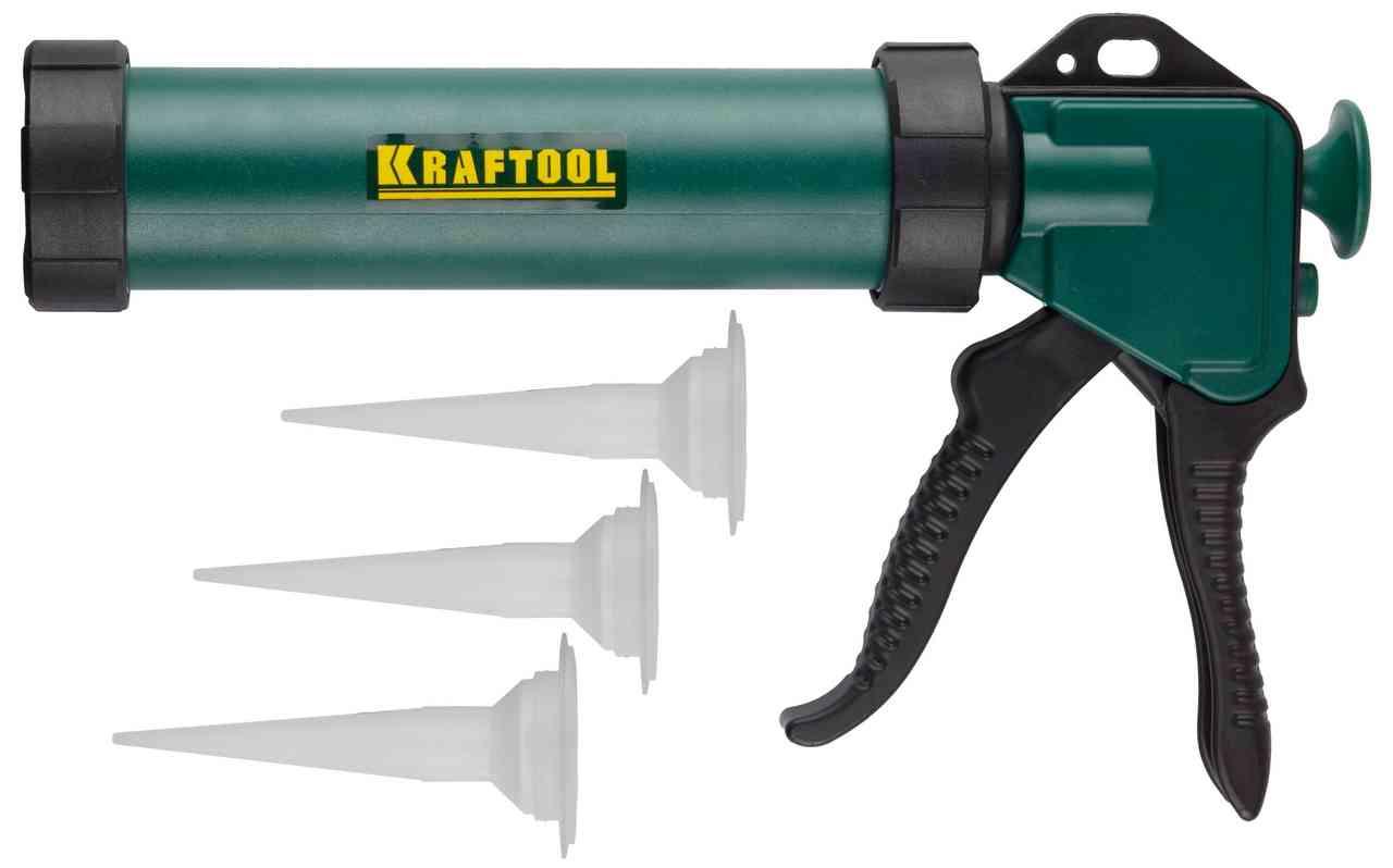 Пистолет для герметика KRAFTOOL KraftSeal закрытый 06677 - фото
