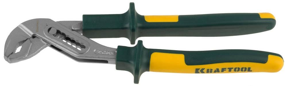 Клещи двухкомп.рукоятки KRAFTOOL переставные, Cr-Mo, шарнирное соединен, 250мм KRAFTOOL - фото