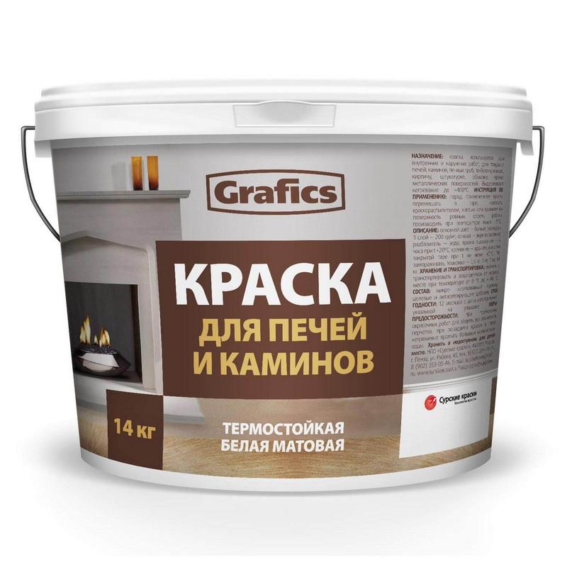 Краска для печей и каминов ВДАК П- К 3 кг - фото