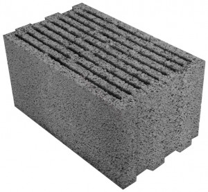 Кирпич блочный 400*200*200 М-200 бетонный стеновой (75шт.) серый - фото