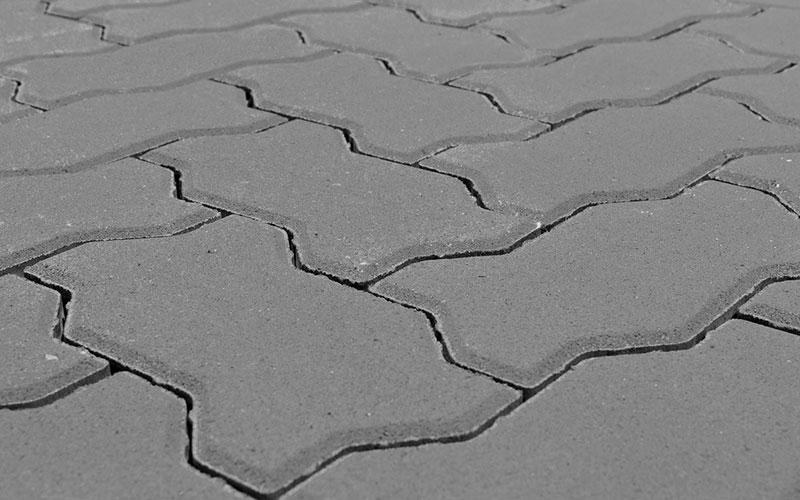 Тротуарная плитка Волна BRAER серый 60мм - фото