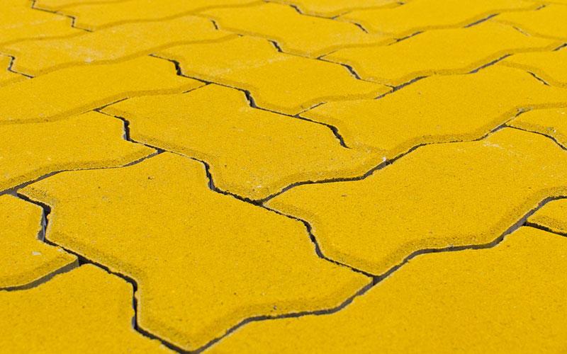 Тротуарная плитка Волна BRAER желтый 70мм - фото