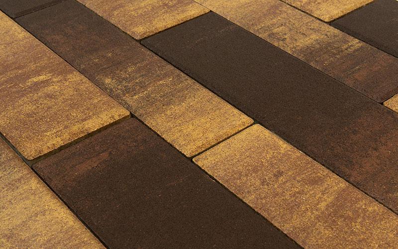 Тротуарная плитка ДОМИНО 60 мм BRAER сафари - фото