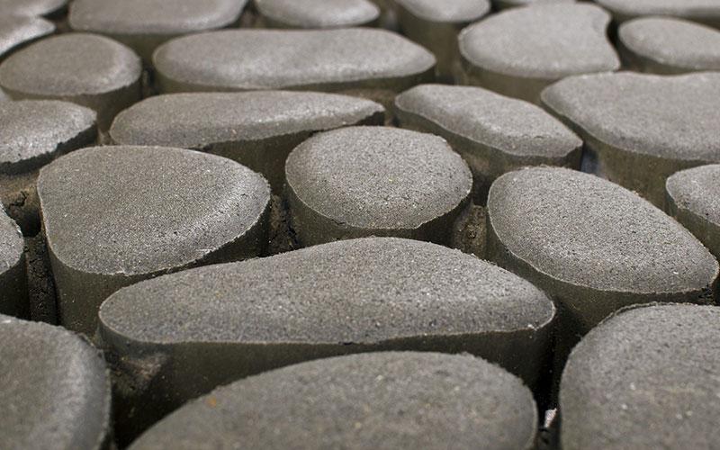 Тротуарная плитка Грин Галет 80 мм серый BRAER - фото