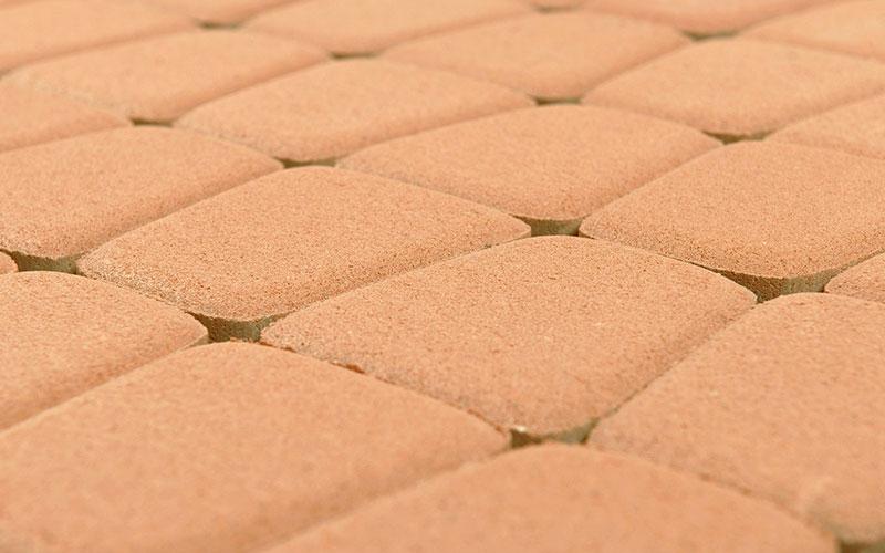 Тротуарная плитка КЛАССИКО круговая 60 мм BRAER коралловый - фото