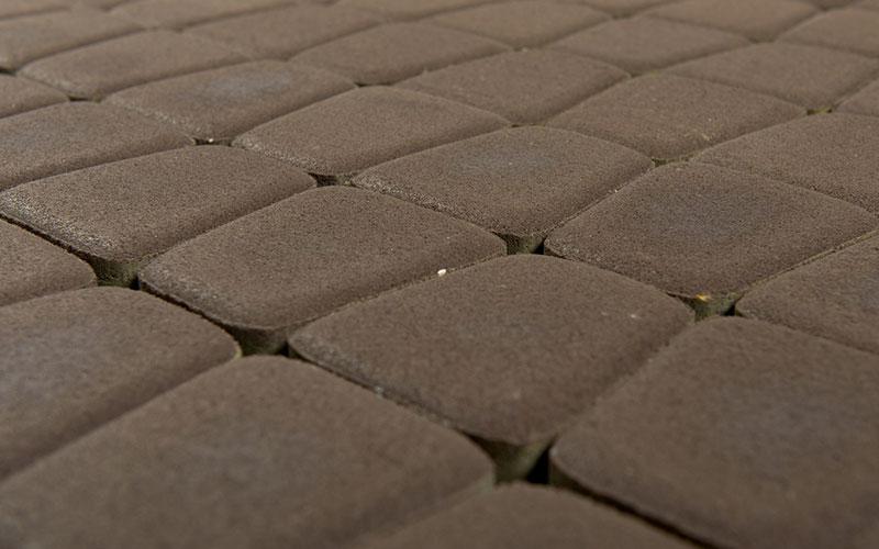 Тротуарная плитка КЛАССИКО круговая 60 мм BRAER коричневый - фото