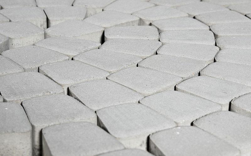 Тротуарная плитка КЛАССИКО круговая 60 мм BRAER серебристый - фото