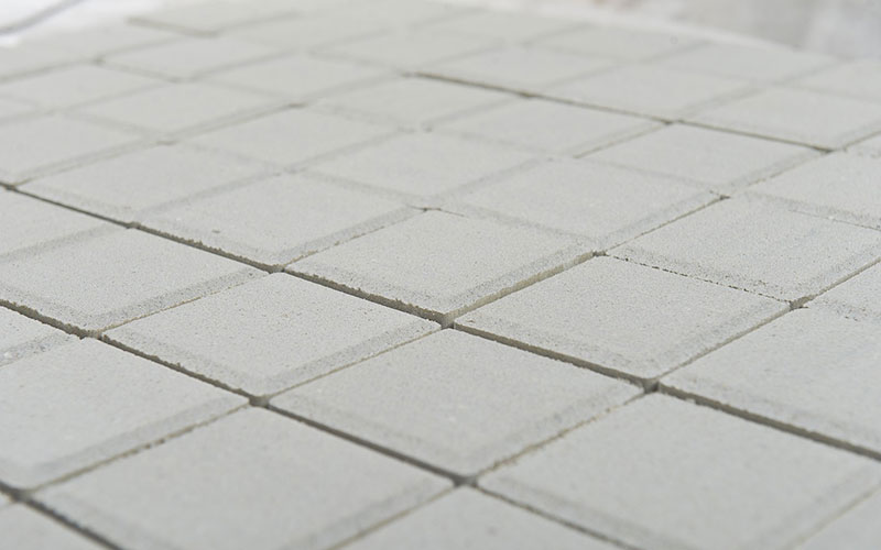 Тротуарная плитка Лувр 60 мм BRAER белый 200х200мм - фото