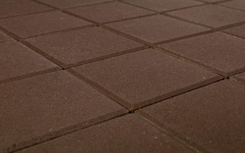 Тротуарная плитка Лувр 60 мм BRAER коричневый 200х200мм - фото