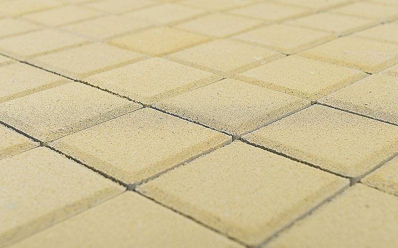 Тротуарная плитка Лувр 60 мм BRAER песочный 100х100мм - фото