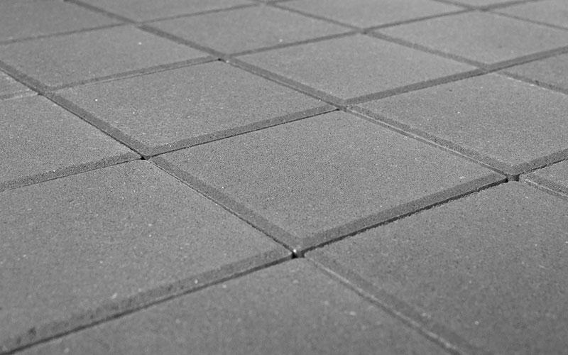 Тротуарная плитка Лувр 60 мм BRAER серый 200х200мм - фото