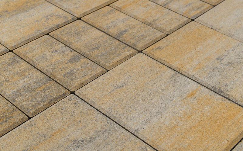 Тротуарная плитка МОЗАИКА 60 мм BRAER песчаник - фото