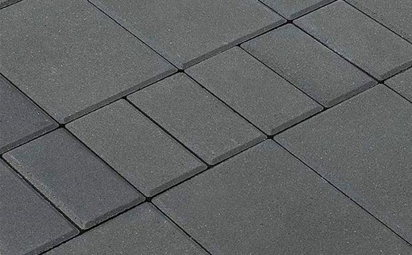 Тротуарная плитка МОЗАИКА 60 мм BRAER серый - фото