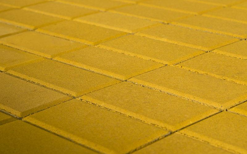 Тротуарная плитка Прямоугольник BRAER желтый 200х100х40мм - фото