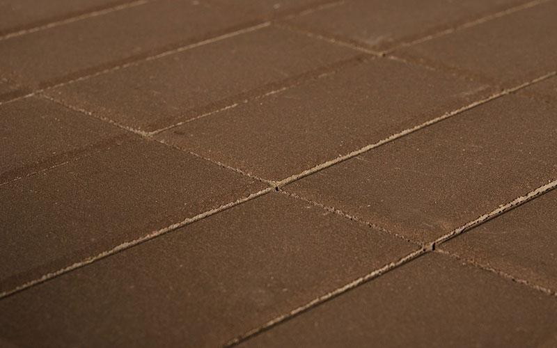 Тротуарная плитка Прямоугольник BRAER коричневый 200х100х40мм - фото