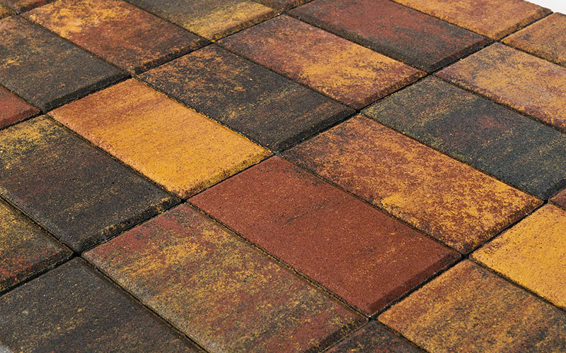 Тротуарная плитка Прямоугольник BRAER мальва 200х100х60мм - фото
