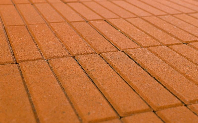 Тротуарная плитка Прямоугольник BRAER оранжевый 200х50х60мм - фото