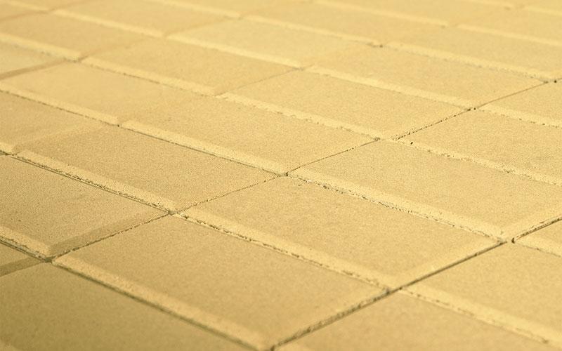 Тротуарная плитка Прямоугольник BRAER песочный 200х100х40мм - фото