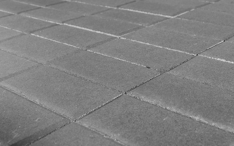 Тротуарная плитка Прямоугольник BRAER серый 200х100х40мм - фото
