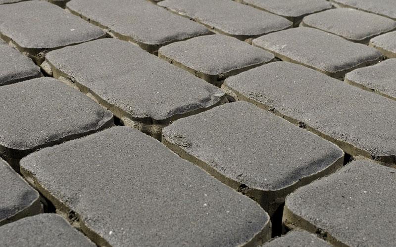 Тротуарная плитка Ривьера 60 мм BRAER серый - фото
