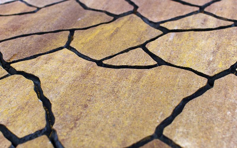 Тротуарная плитка Сан-Тропе 70 мм BRAER каньон - фото