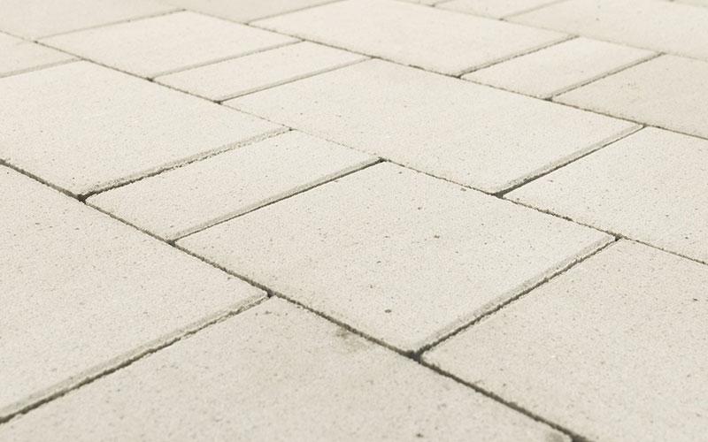 Тротуарная плитка Старый город ЛАНДХАУС BRAER белый 80мм - фото