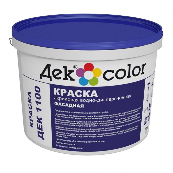 Краска Декоратор ДЕК 1100 Фасадная (10л/15,4кг) - фото