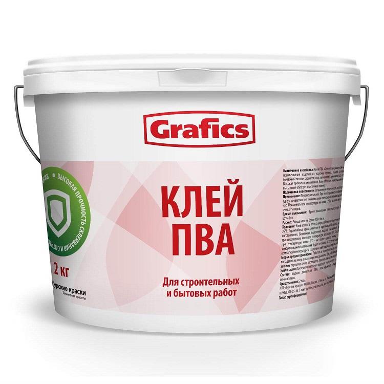 Клей на ПВА строительный Grafics 2 кг - фото