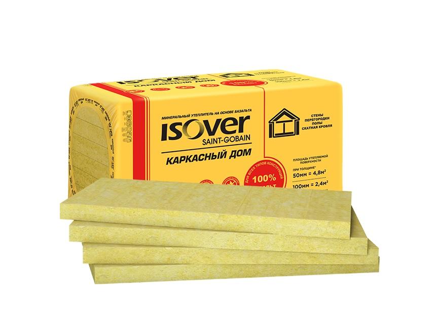 Утеплитель ISOVER Каркасный Дом-50х(8х600)х1000мм 4.8м2 - фото