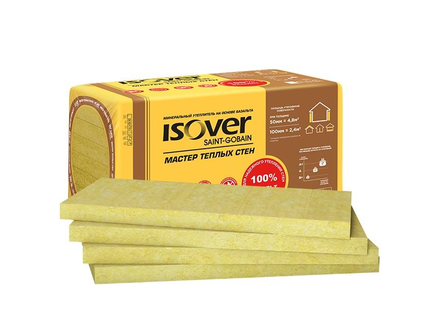 Утеплитель ISOVER Мастер Теплых Стен-100х(4х600)х1000мм 2.4м2 - фото