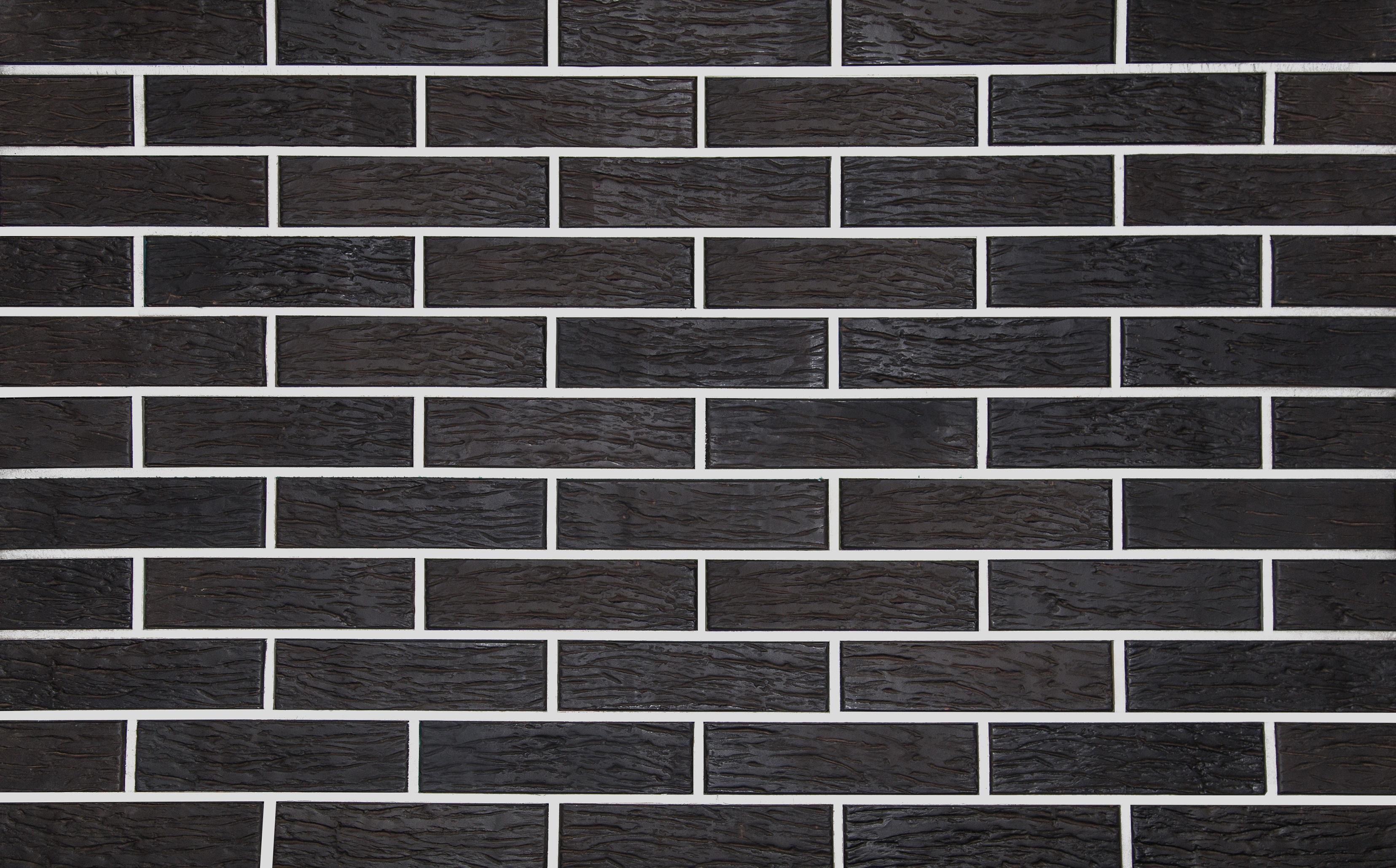 Кирпич облицовочный КЕРМА Color BLACK POWDER R 250*120*65 1НФ - фото
