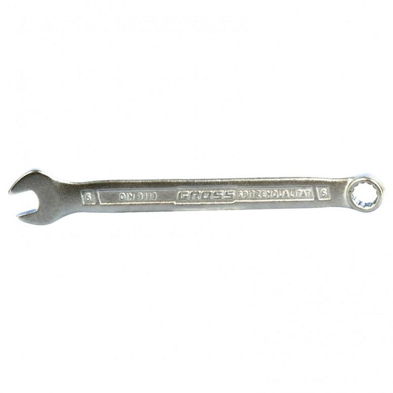 Ключ комб. 6мм CrV,холодный штамп Gross - фото