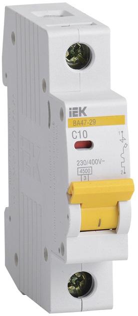 Автоматический выключатель ВА47-29 1Р 10А С ИЭК - фото