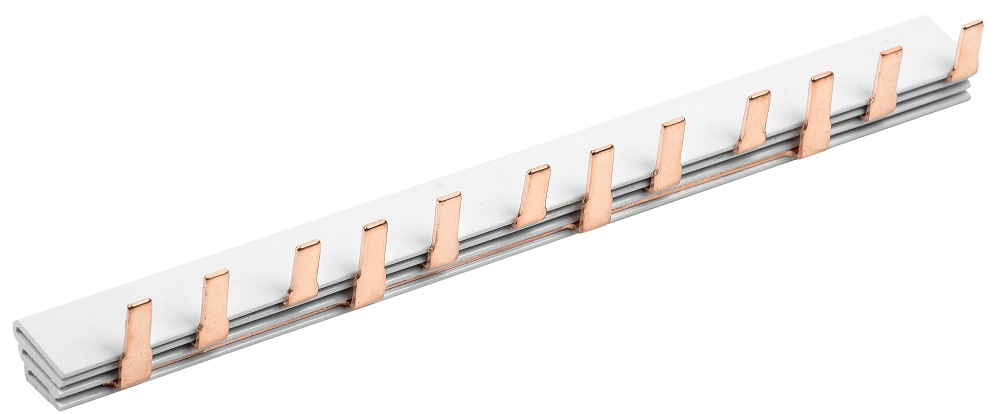 Шина соединительная типа PIN (12 штырей) 3Р 63А (22см) IEK (YNS21-3-063-22-12) - фото