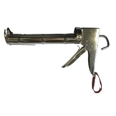 купить Пистолет для герметика полукорп.с зубчатым штоком ф 7мм 320мл (с нож.д/обрез) в Саранске