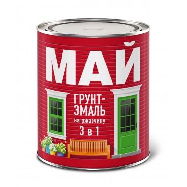 купить Грунт-эмаль МАЙ 3в1 по ржавчине (коричневая) 1.9кг в Саранске
