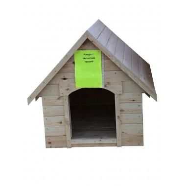 купить Будка (конура) с двухскатной крышей (низкая) в Саранске