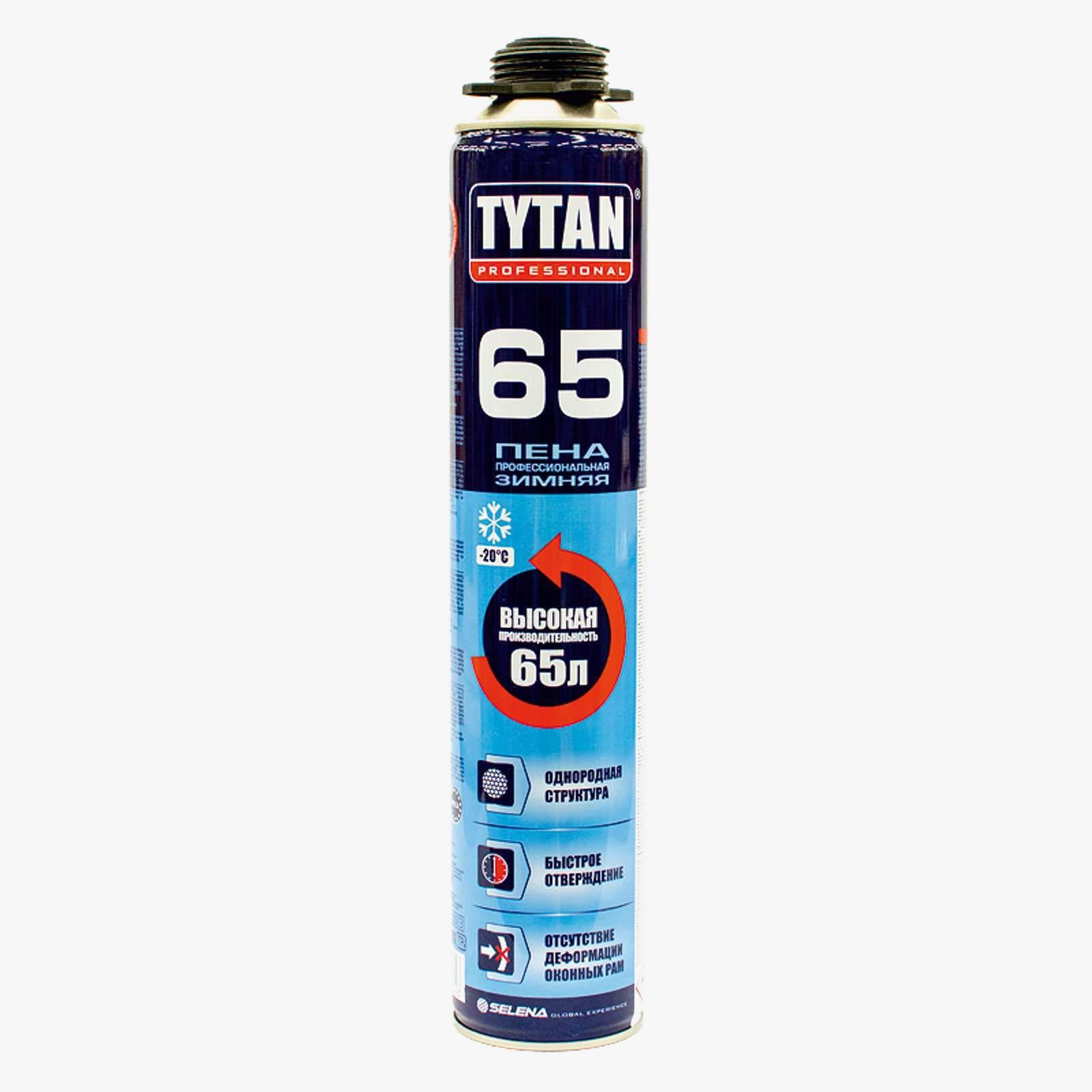 Пена монтажная профессиональная TYTAN 65 750мл (ЗИМА) - фото
