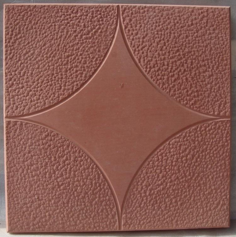 Плитка 300*300*30 (красная) Звезда 11шт/м2 - фото