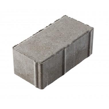 купить Тротуарная плитка Кирпичик 200*100*80 мм Standart серая в Саранске