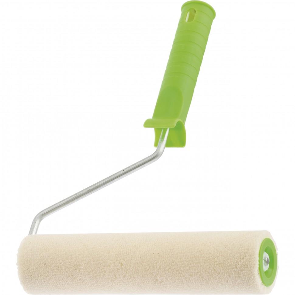 Валик Сибртех ВЕЛЮР с ручкой 200мм, ворс 2мм, D-36мм, D ручки-6мм (80134) - фото