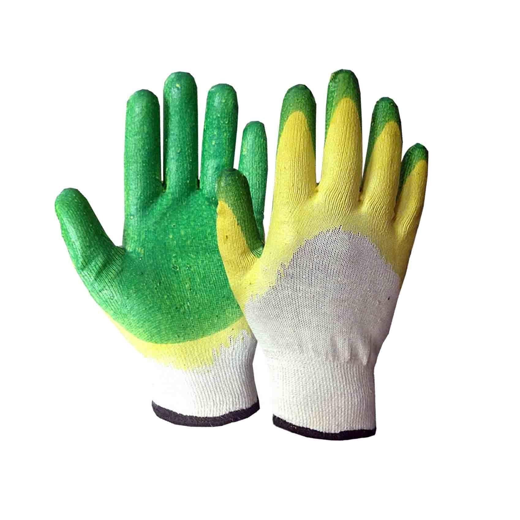Перчатки трикотажные, двойное латексное покрытие - фото