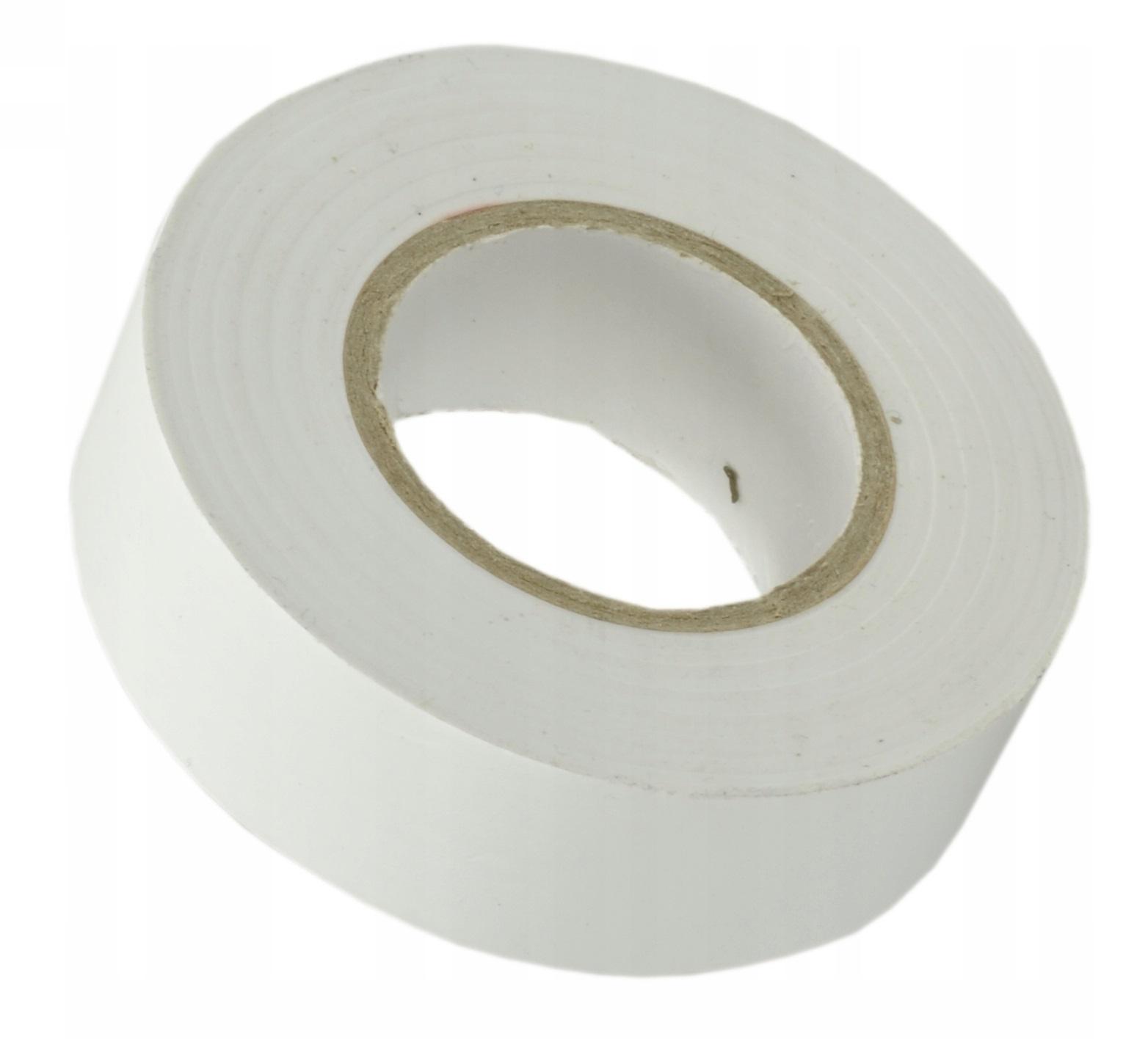 Изолента ПВХ 19мм белая (20м) - фото