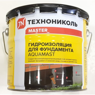 купить Мастика битумная Технониколь AquaMast 18кг (для фундамента) в Саранске