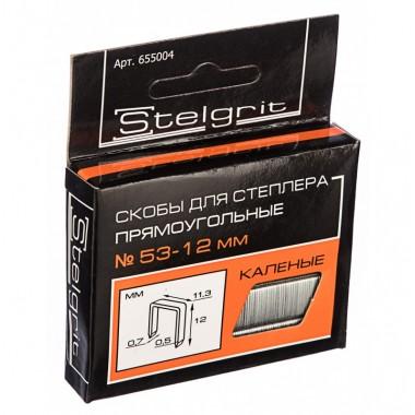 купить Скобы для мебельного степлера каленая 12*0,7мм Stelgrit (655004) в Саранске