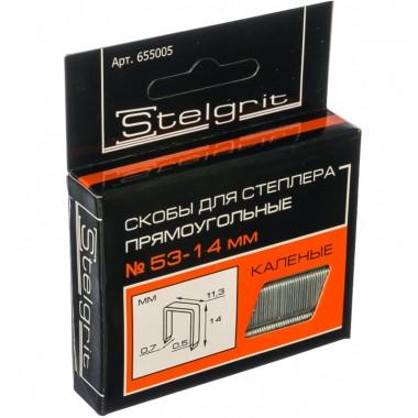 купить Скобы для мебельного степлера каленая 14*0,7мм Stelgrit (655005) в Саранске