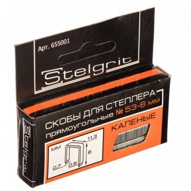 купить Скобы для мебельного степлера каленая 6*0,7мм Stelgrit (655001) в Саранске