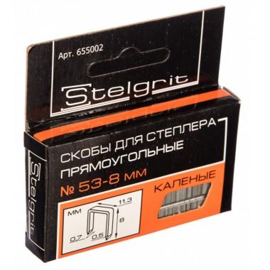 купить Скобы для мебельного степлера каленая 8*0,7мм Stelgrit (655002) в Саранске