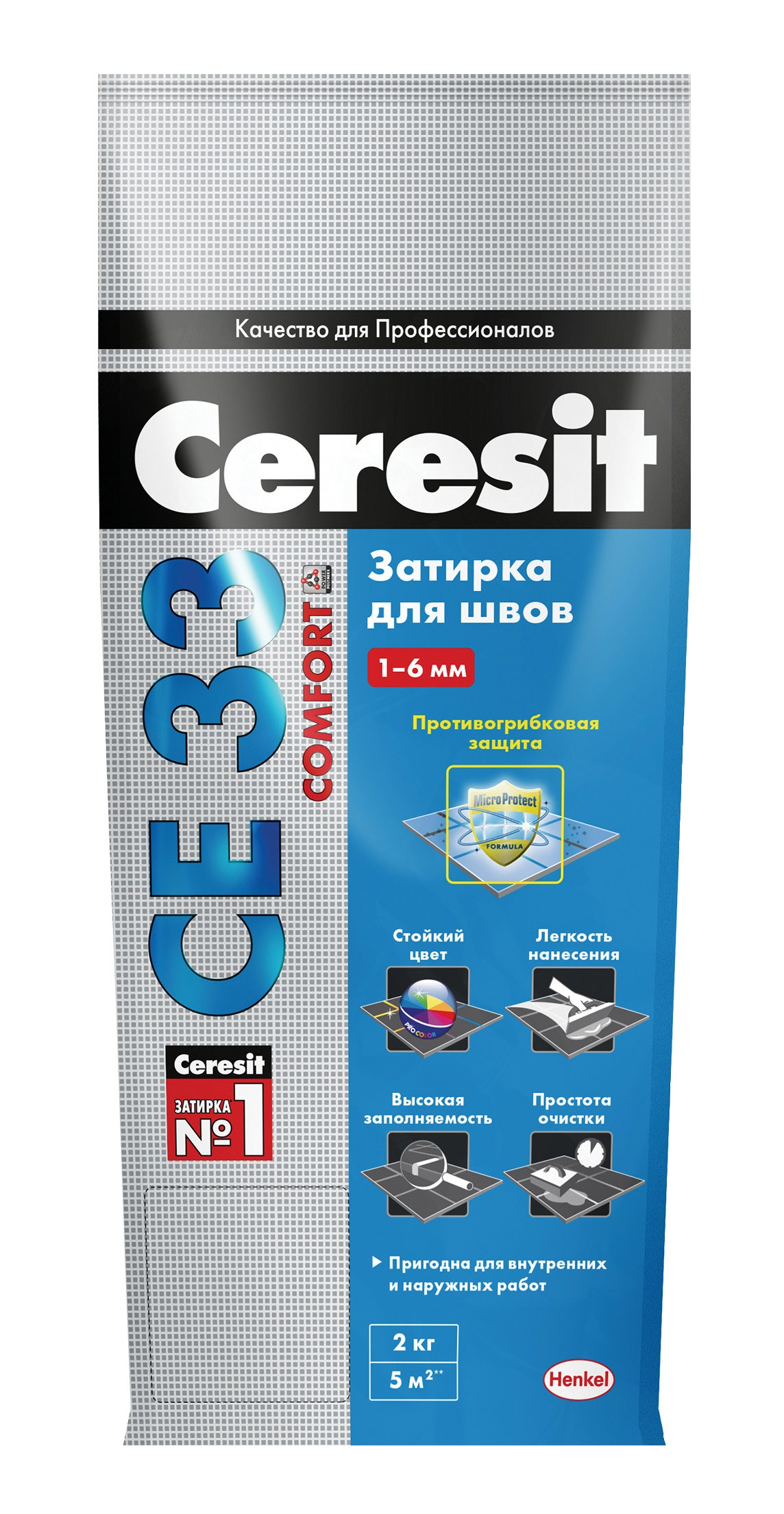 Затирка CERESIT CE33 №40 (жасмин) 2кг - фото